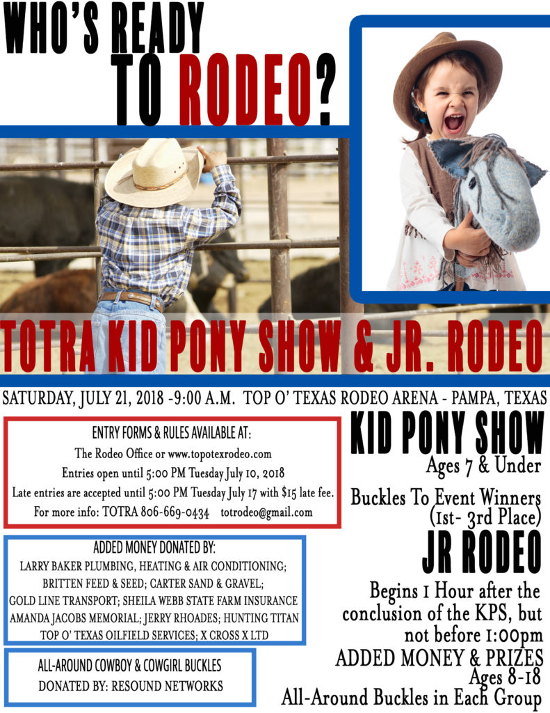 JR RODEO 2018 Flyer